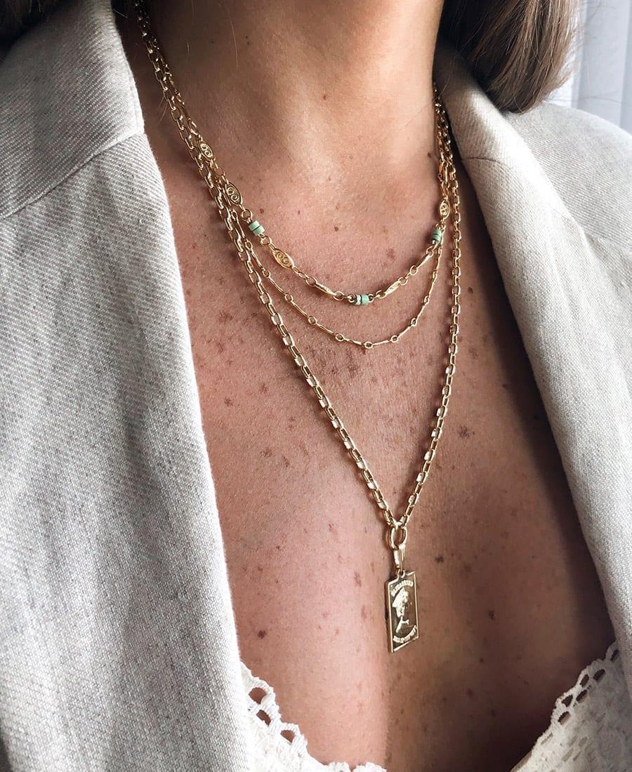 שרשרת יסמין עשויה משילוב של גולדפילד. ציפוי זהב 14 קראט