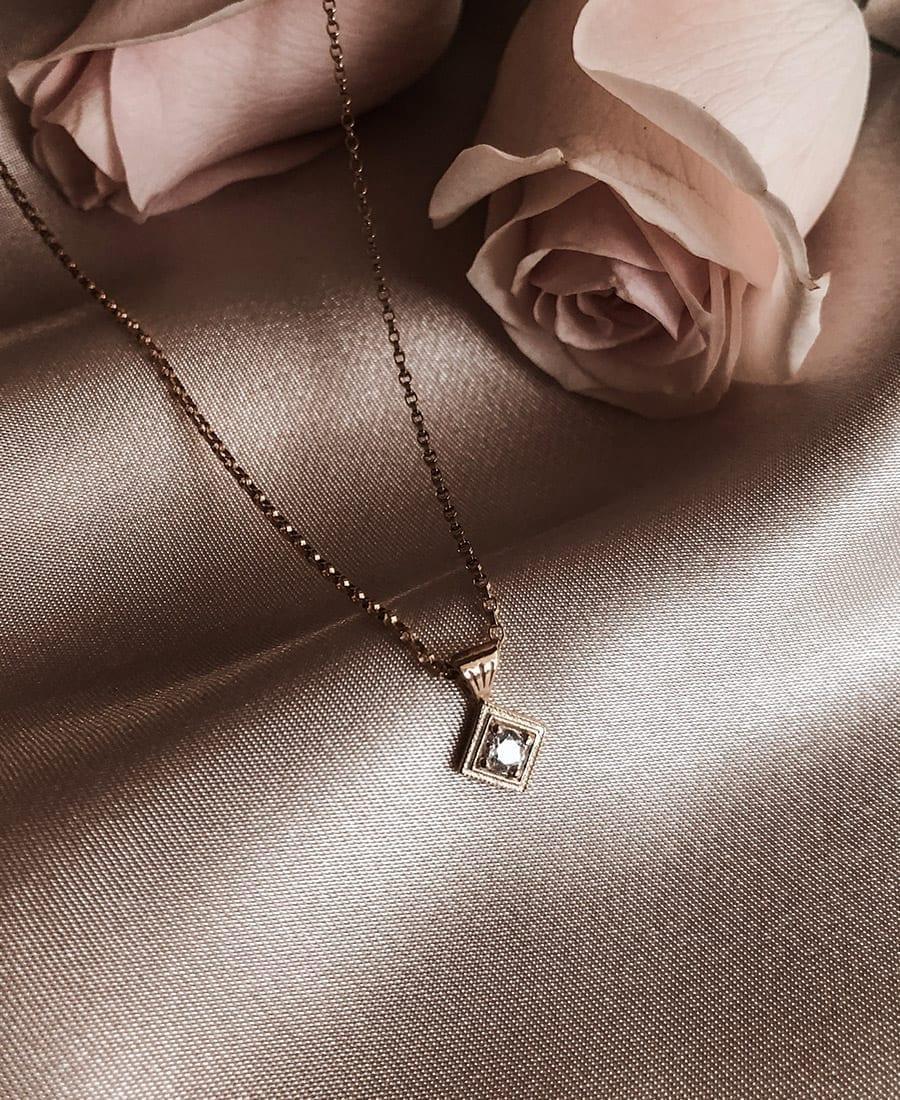 שרשרת מארי עשויה ציפוי זהב 14 קראט