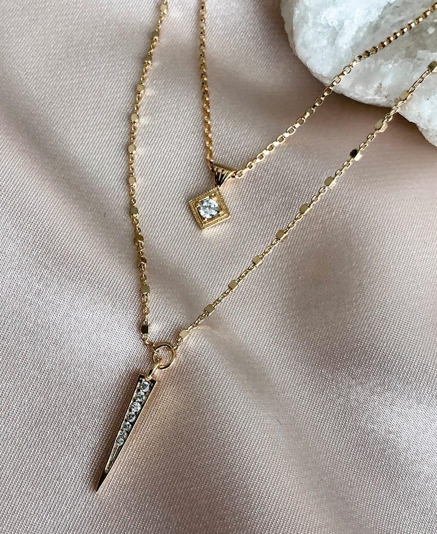 שרשרת מארי עשויה שילוב של גולדפילד. ציפוי זהב 14 קראט