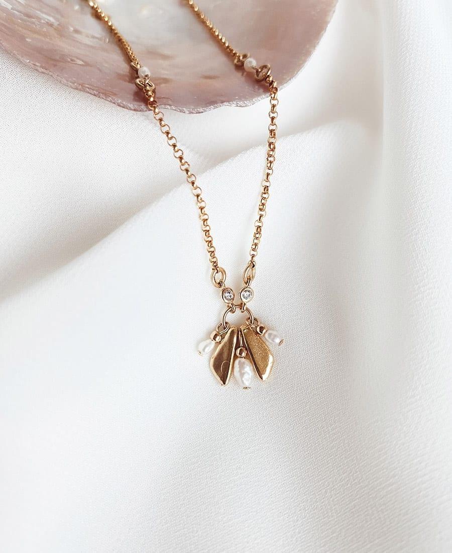 שרשרת לוטוס עשויה גולדפילד, אלמנטים בציפוי זהב