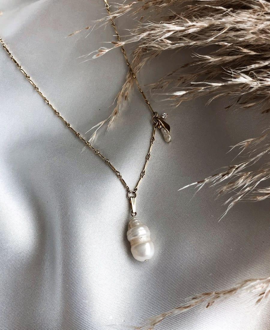 שרשרת דריה עשויה גולדפילד ופנינה