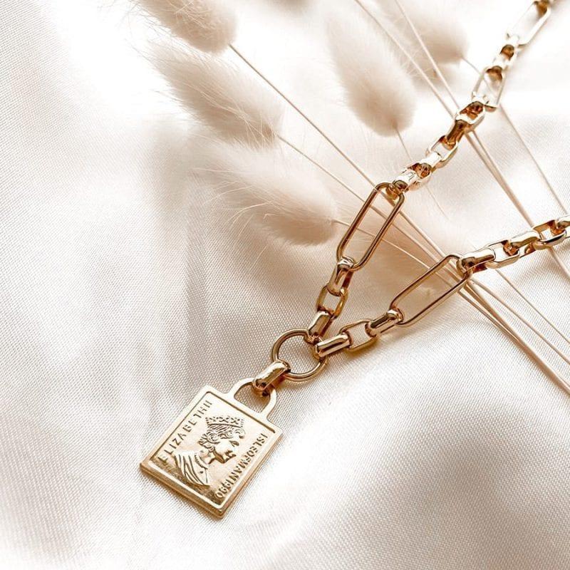 שרשרת בציפוי זהב זואי