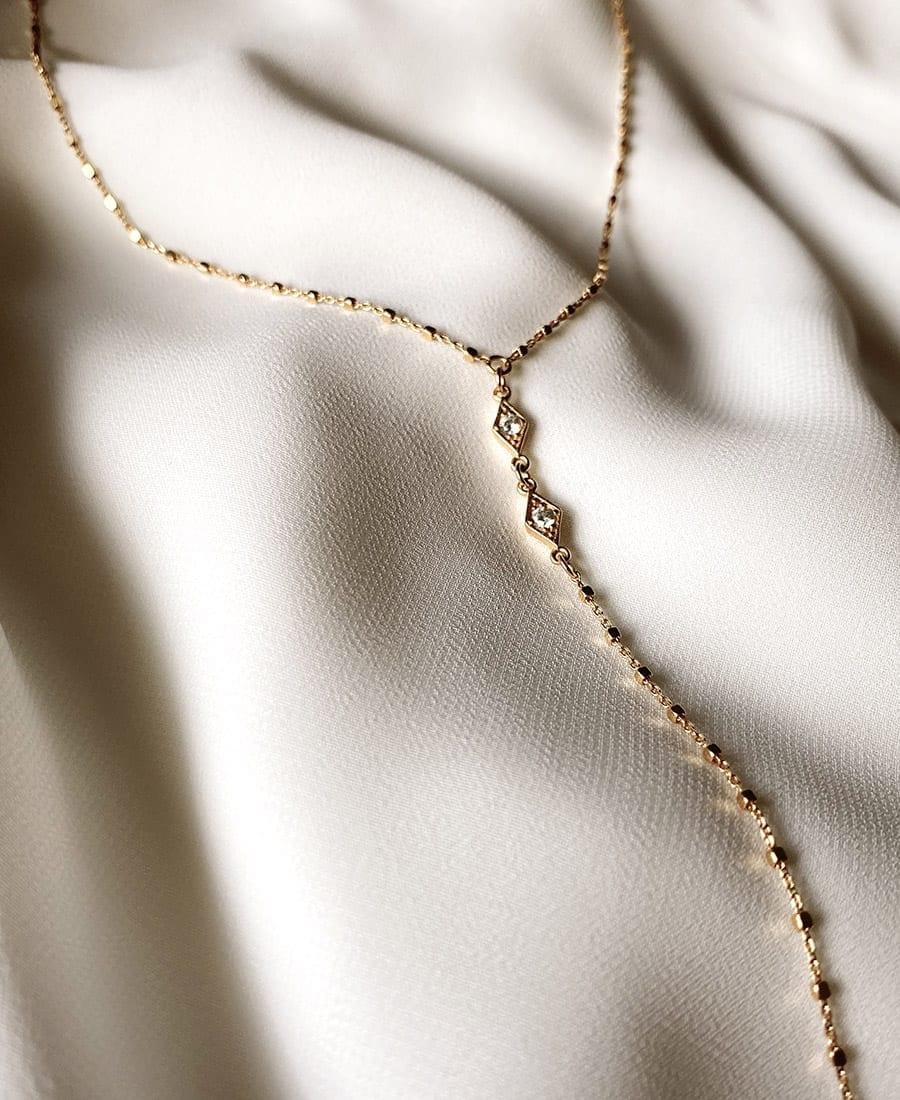 שרשרת עניבה כסף 925 בציפוי זהב