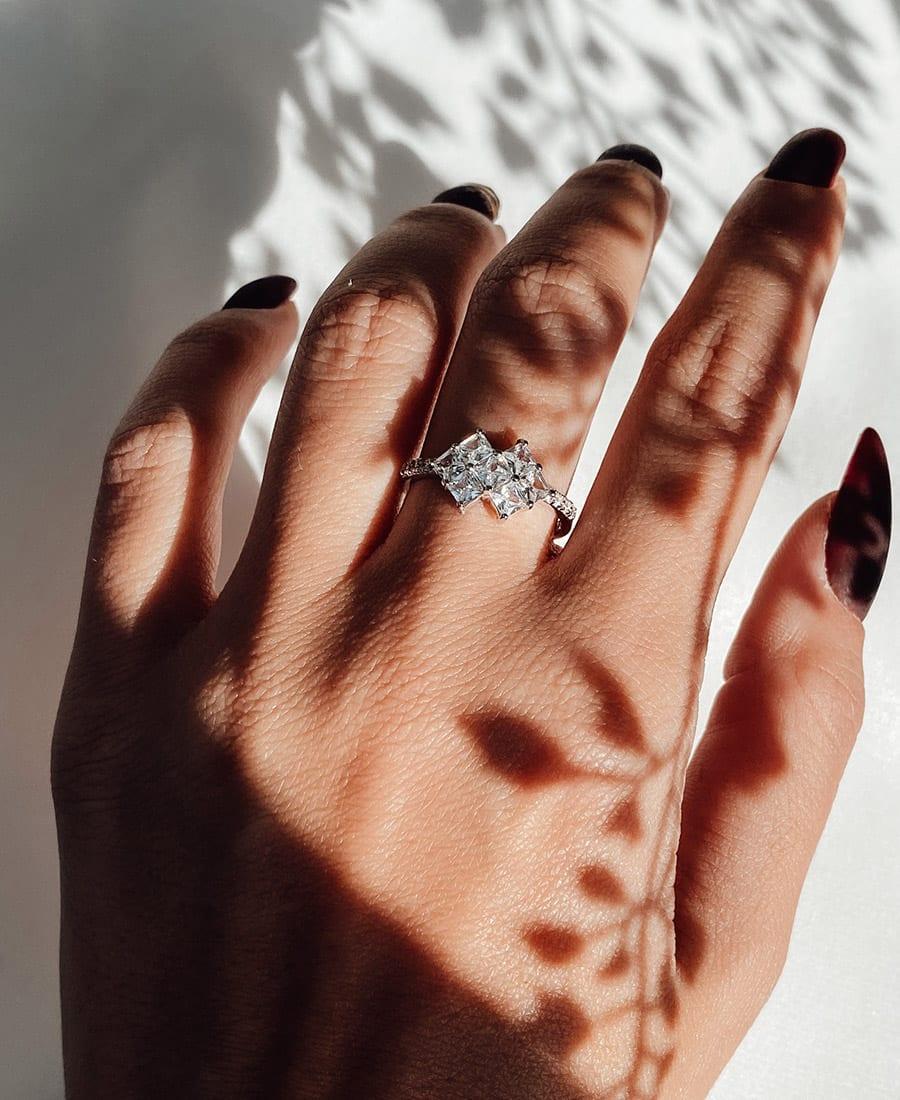 טבעת כסף 925 דיאנה