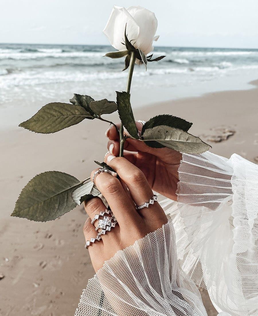 טבעת ויקטוריה עשויה כסף 925