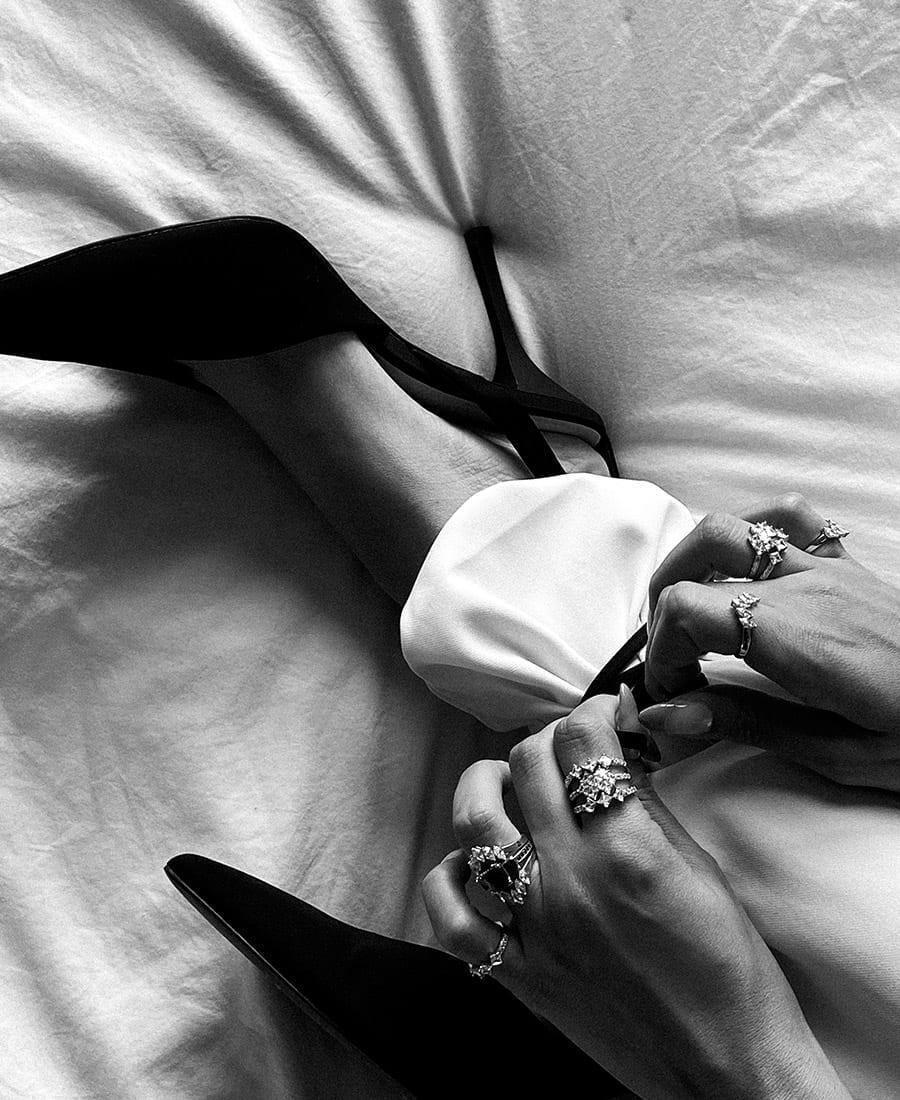 טבעת ויקטוריה עשויה כסף