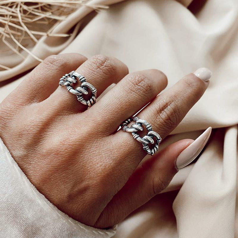 טבעת כסף נאיה