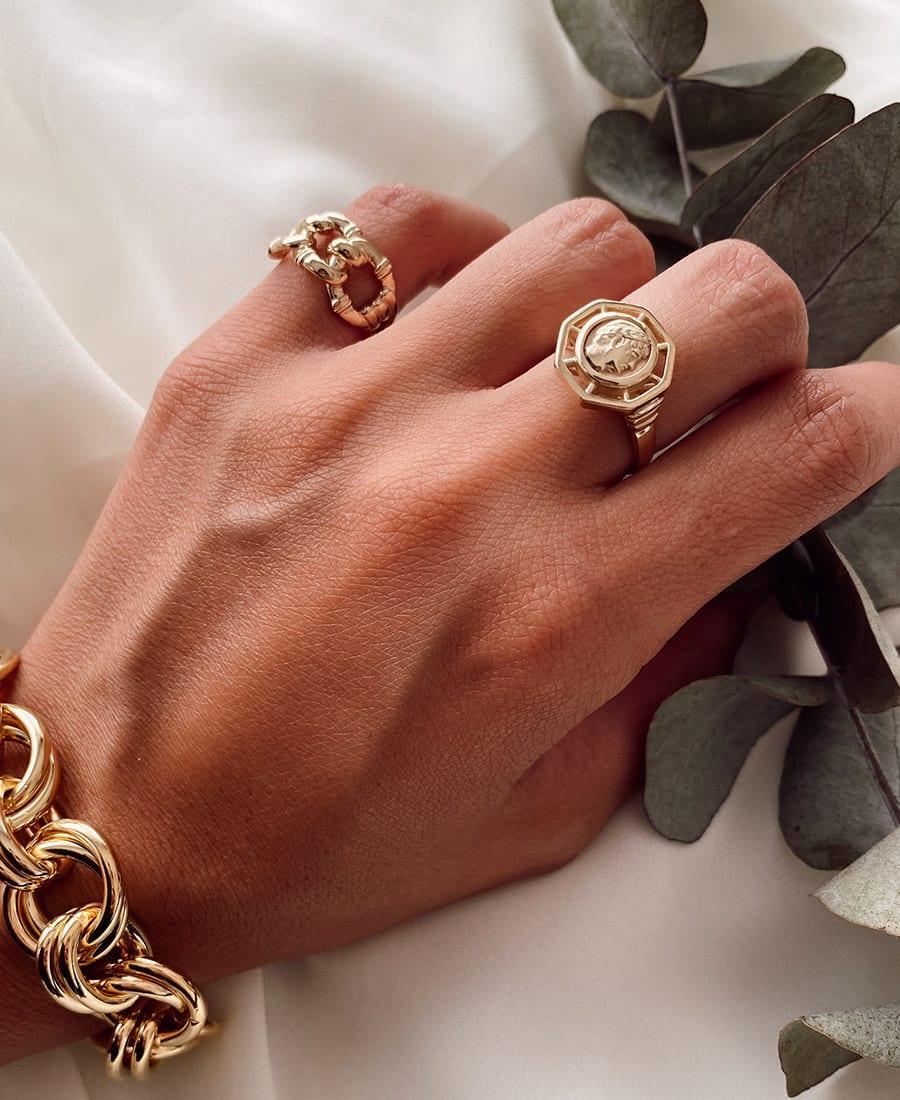 טבעת כסף נור 925 זהב 14 קראט