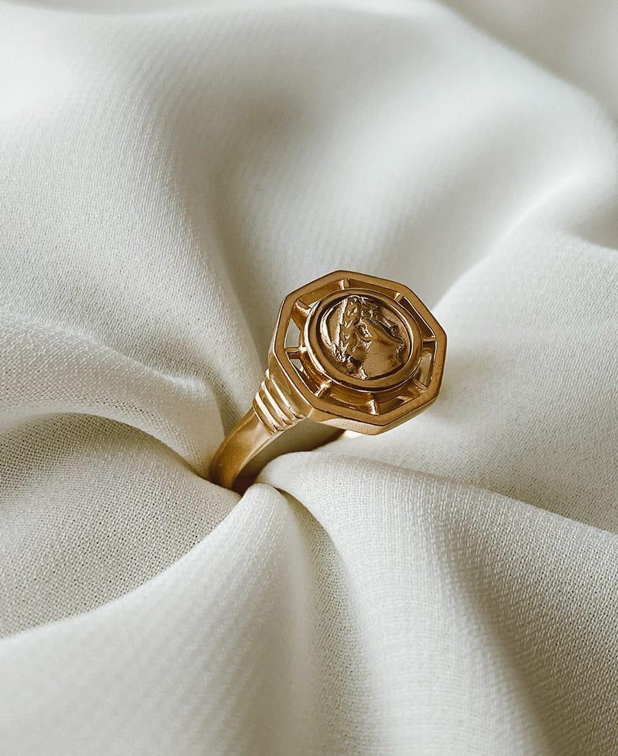 טבעת מצופה זהב 14 קראט