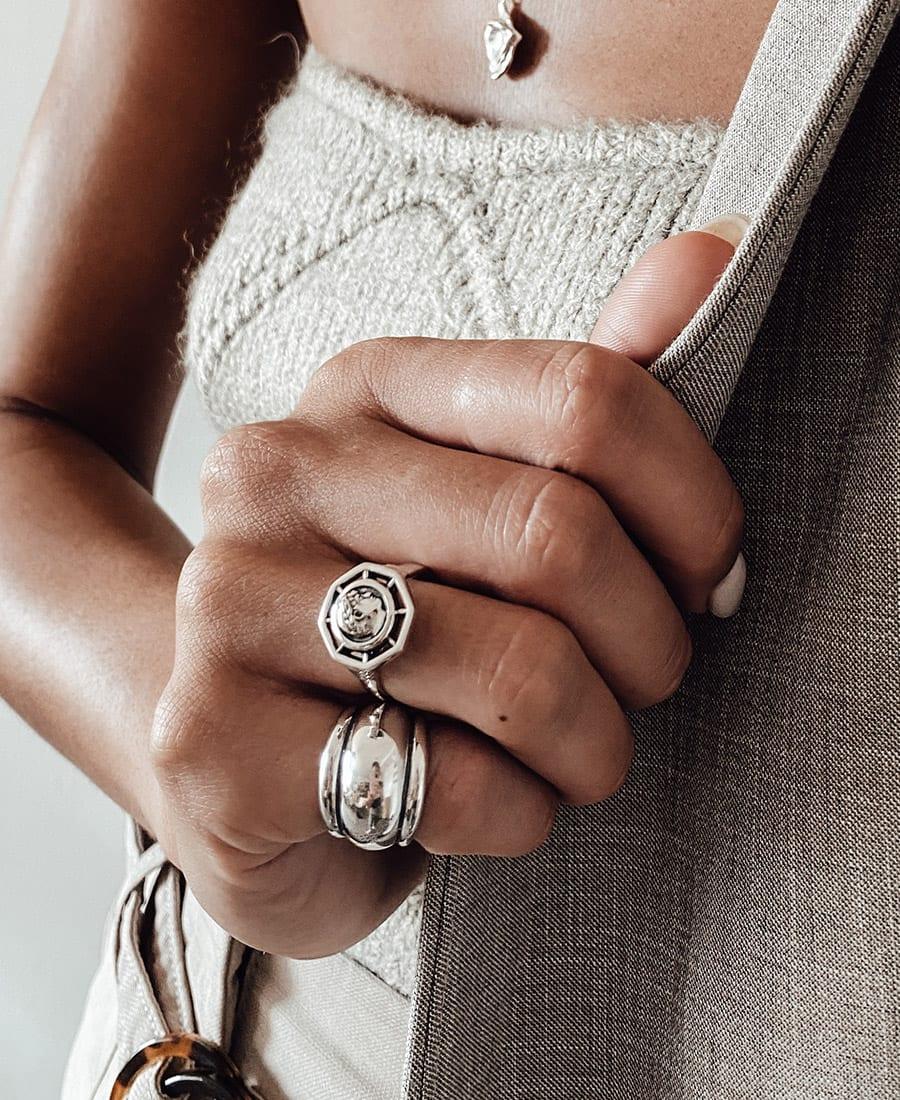 טבעת רנה עשויה כסף