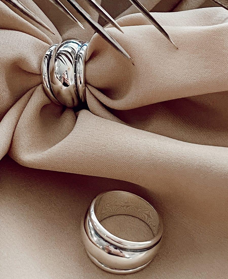 טבעת עשויה כסף 925