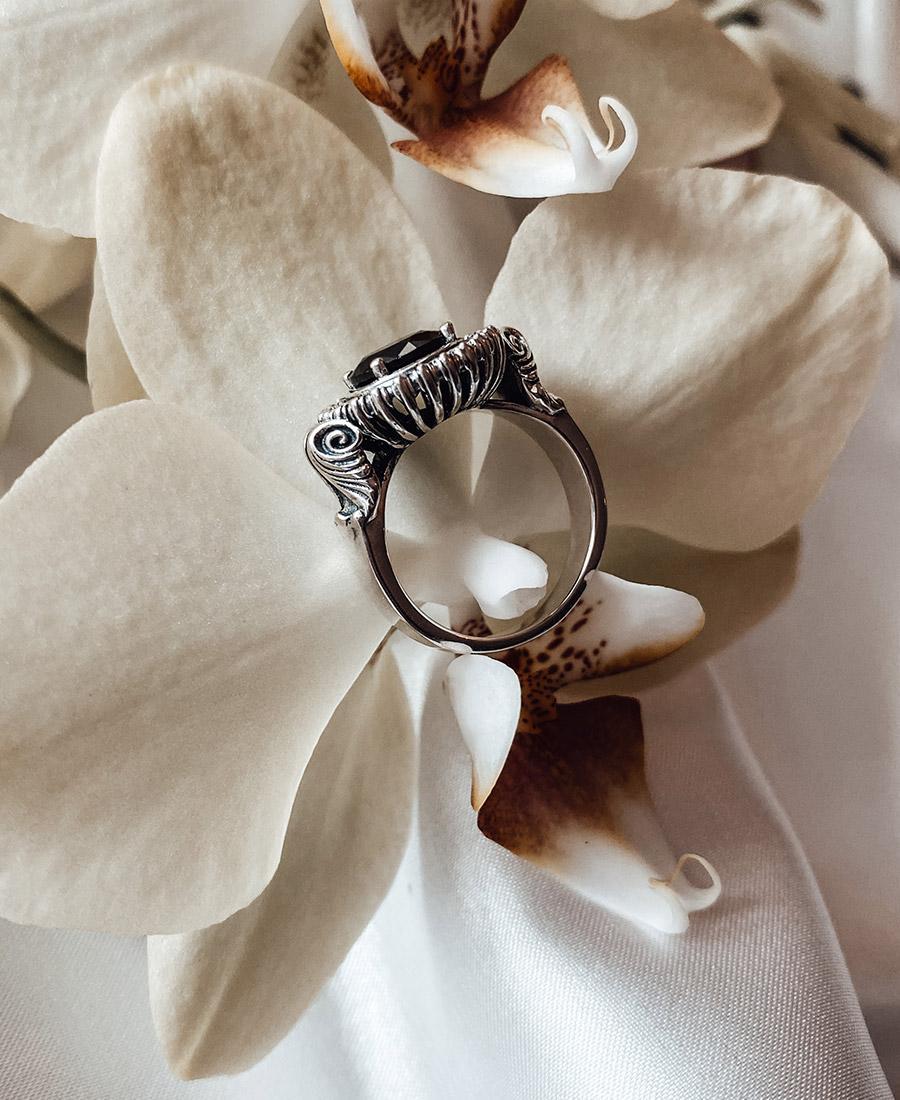 אליזה טבעת כסף 925 עם זירקון שחור