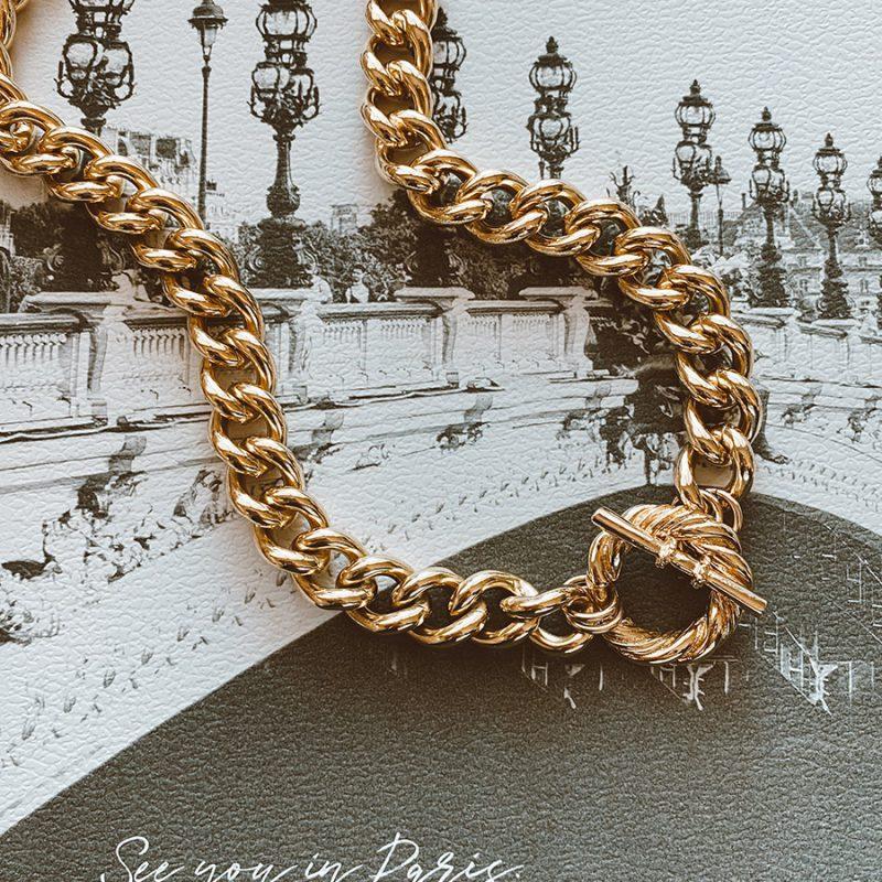שרשרת גורמט עבה זהב
