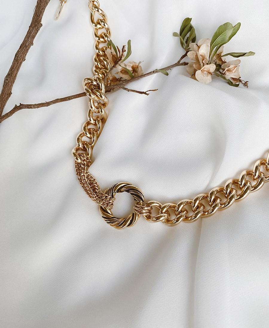 שרשרת גורמט עבה מסוג ניקולה זהב