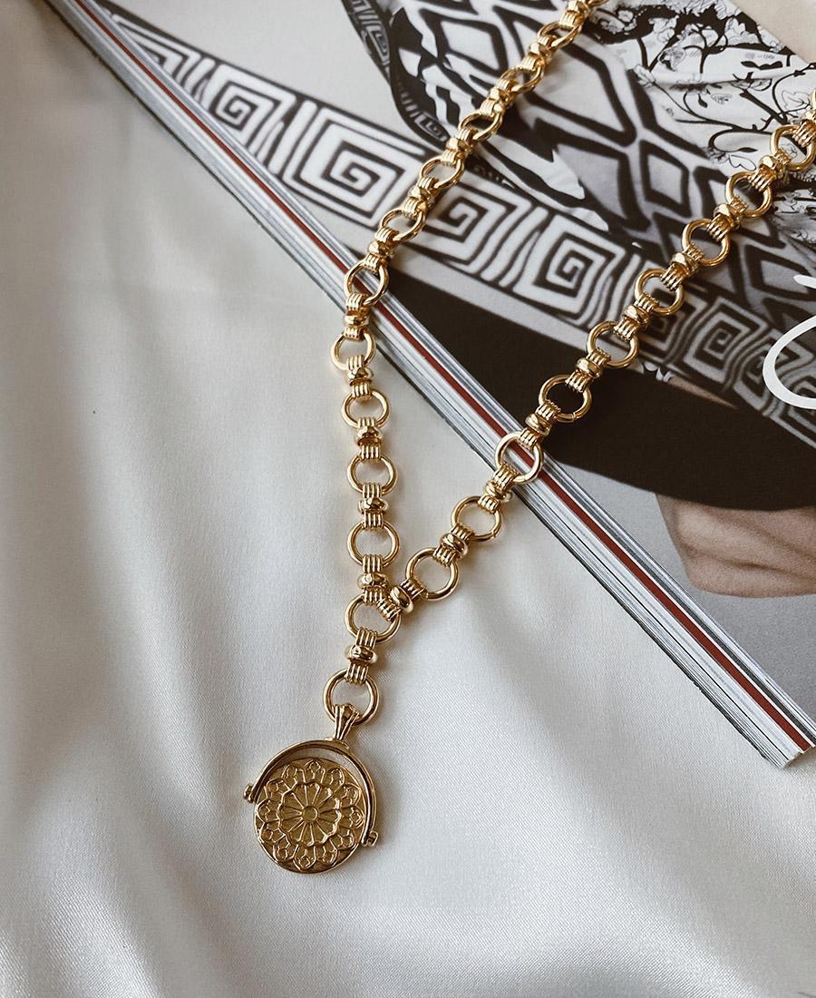 שרשרת גורמט זהב עם תיליון נוטרדם