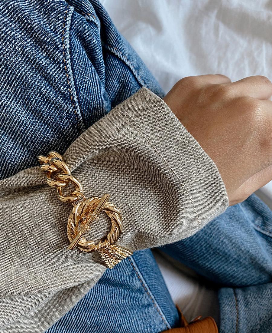 צמיד מצופה זהב סרג' צמיד גורמט מוזהב