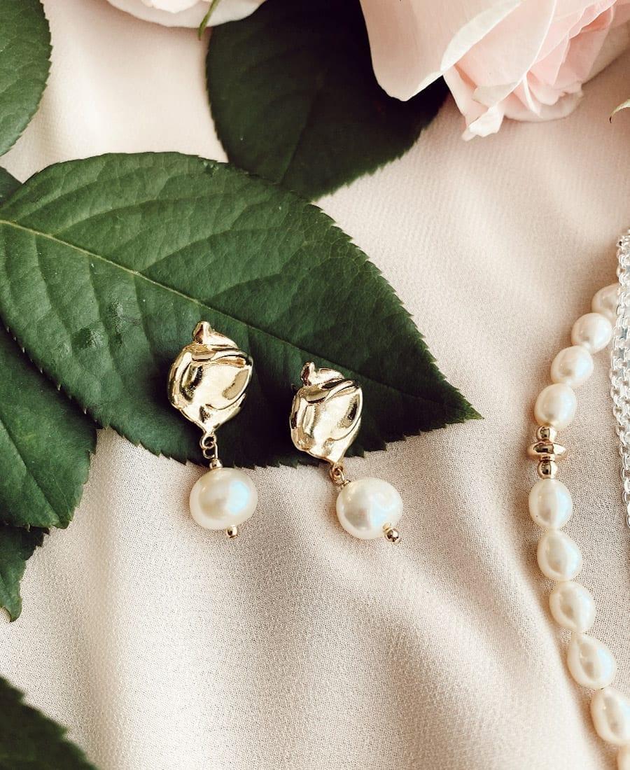 עגילי מרלין מצופים זהב