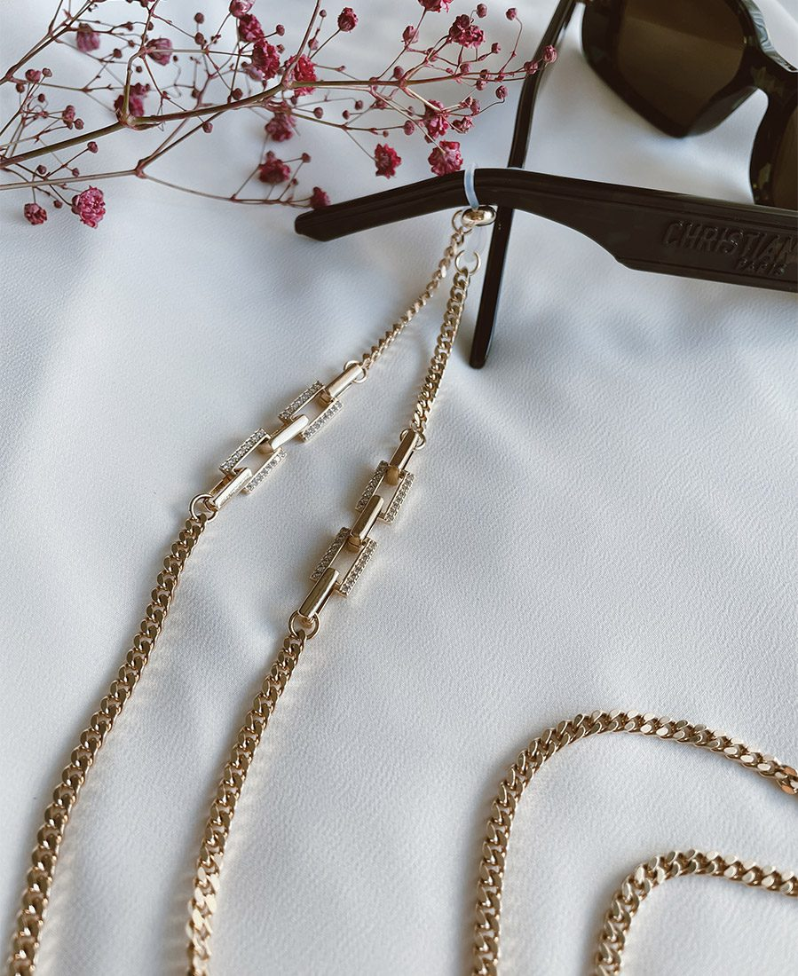 שרשרת אלודי מורכבת משרשרת בציפוי זהב