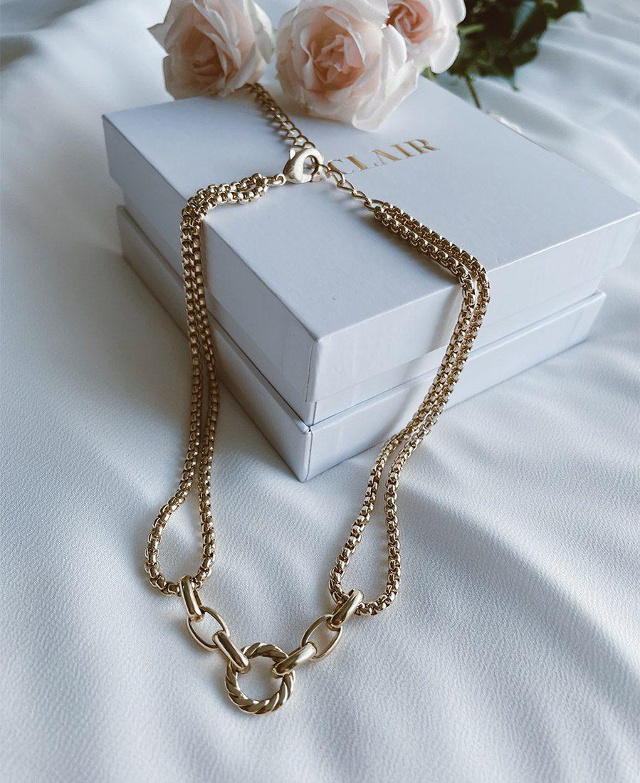 שרשרת מצופה זהב