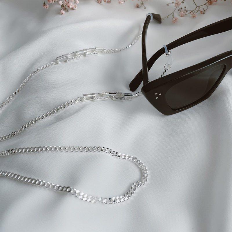 שרשרת משקפיים מצופה כסף