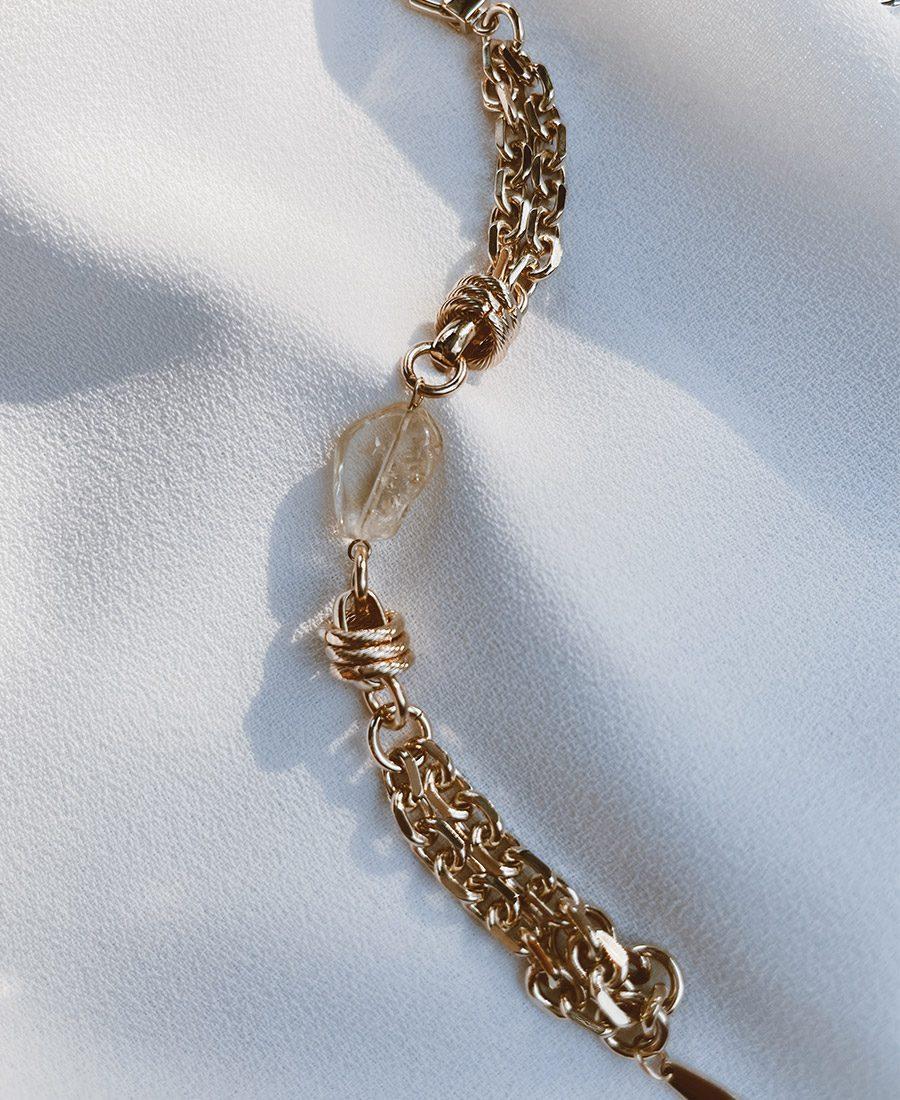 צמיד סמואל מצופה זהב